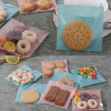 Fresh Dots Biscuit Cookie Baking Moon Cakes Wedding Birthday Party Packaging Bags Plastic Pastry Self Adhesive Pouch(China)