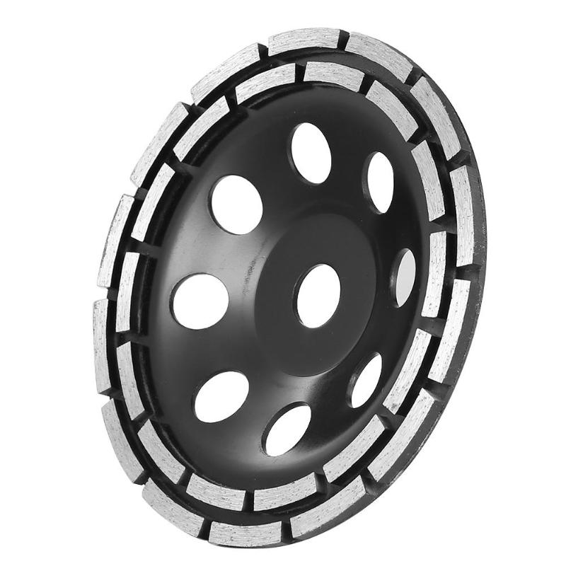 115//125//180mm Diamond Grinding Cup Wheel Disc Double Row Stone Brick Tile Grinde