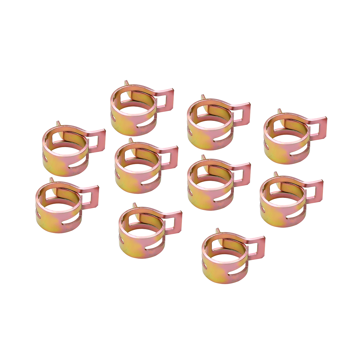 New Hot 60Pcs 6 15mm Auto Fastener & Clip Spring Clip Fuel Line Hose Water Pipe Tube Clamps Fastener Mayitr-in Auto Fastener & Clip from Automobiles & Motorcycles