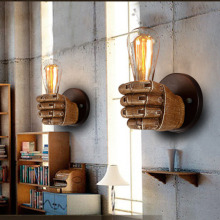 American Fist LED Wall Lamps Vintage Industrial Lights Bathroom Bedroom Light Led Home Decor