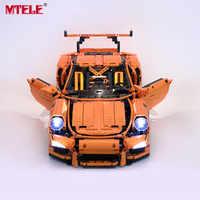 MTELE kit d'éclairage LED pour Technic série GT3 RS jouets blocs de construction ensemble de lumière Compatible avec le modèle Porsche 42056