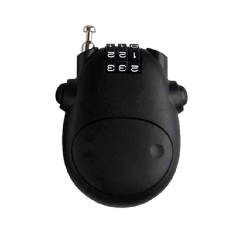 Portable Logam Helm Kunci Lucu Mekanik Password Gembok Mini Retractable Sepeda Motor Helm LOCK UNTUK Pintu Kabinet