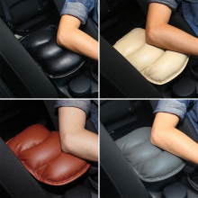 Hot Car Seat Cover Soft Leather Auto Center Armrest Console Box Protective Pad Mat Arm Rest Top