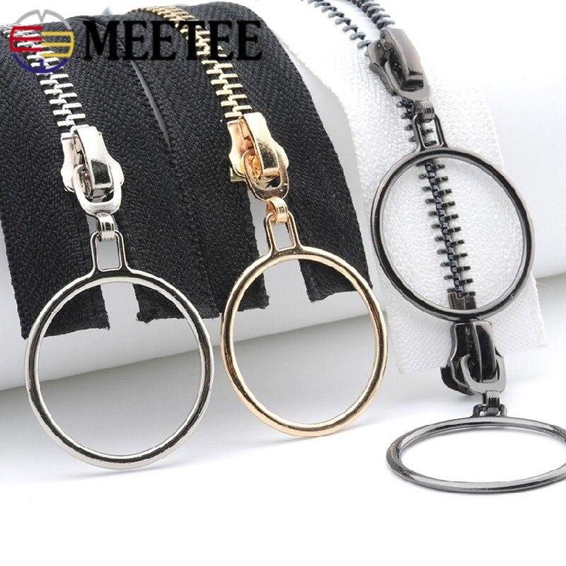 396c944e6fb Cheap Meetee 5  85 cm de Metal 120 cm cierres abiertos doble sigle anillo