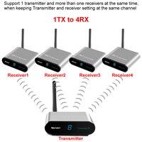 measy av220 Wireless HDMI Audio Video Transmitter Receiver Sender AV RCA 200m 2.4G For STB DVD Satellite IPTV Android Cable TV