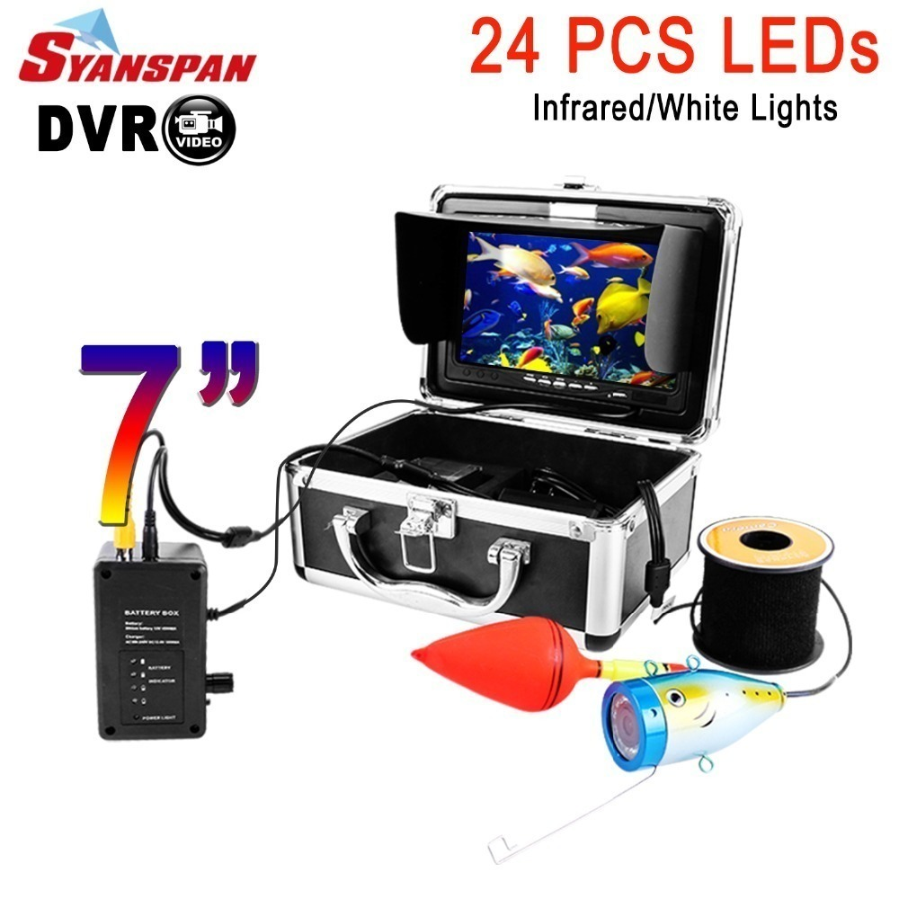 3 Lengths to Choose from Portable 7 Fishing Finder LCD HD Underwater Fishing Video Camera with Cable/Underwater Ice Fishing Camera Marine Electronics