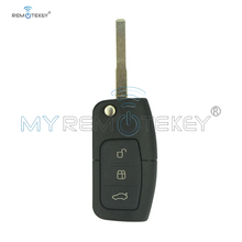 цена на Remtekey Flip remote car key for Ford B-Max Fiesta Focus Galaxy Kuga S-Max 2008 2009 2010 2011 no chip HU101 433mhz 3M5T15K601AB