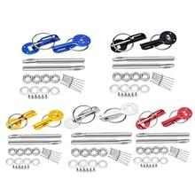 цена на SPEEDWOW Universal Down Hood Lock Pins Stainless Steel Bonnet Hood Pin Lock Kit Fit ALL Racing Speed Black Red Blue Gold Silver