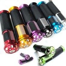 """7/"""" 22 мм алюминиевый сплав и резиновая ручка для мотоцикла, детали для мотоцикла, пластиковая ручка для HONDA Для SUZUKI"""
