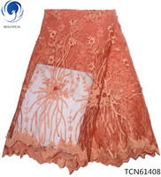 BEAUTIFICAL african lace fabrics french lace fabric 2018 net lace fabric nigerian online shopping free shipping 5 yards TCN614