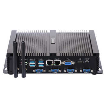 Fanless Industrial PC,Mini Computer,Windows 10 Pro/Linux ,Intel Celeron 1037U,[HUNSN MA03I],(1VGA/1HD/4USB2.0/4USB3.0/2LAN)