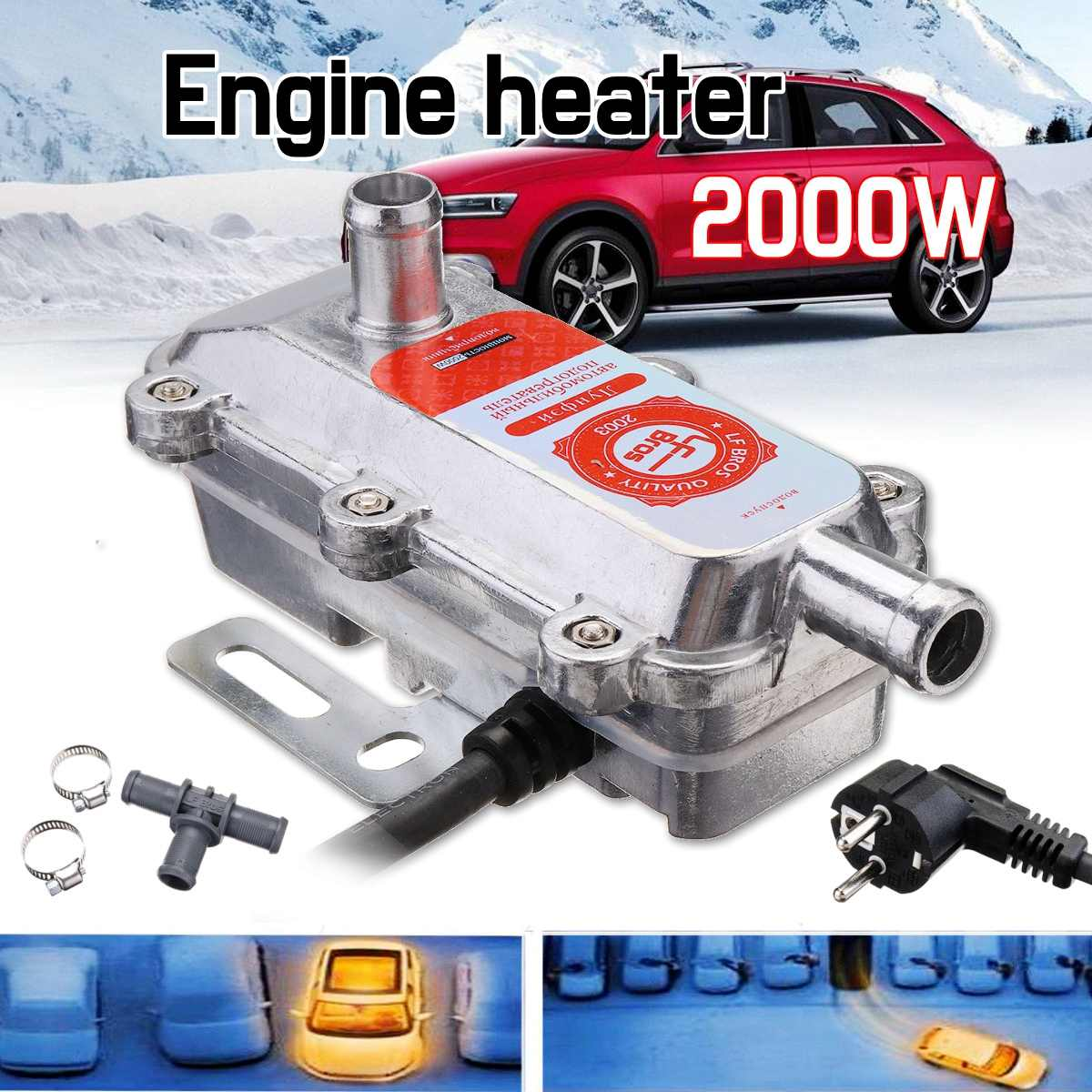 Date 220 V 2000 W voiture moteur chauffage préchauffeur pas Webasto Eberspacher réservoir d'eau Air Parking chauffage pour moteur caravane