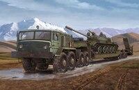 Military assembly model 1:35 Russian MAZ 537G heavy semi trailer truck 00211