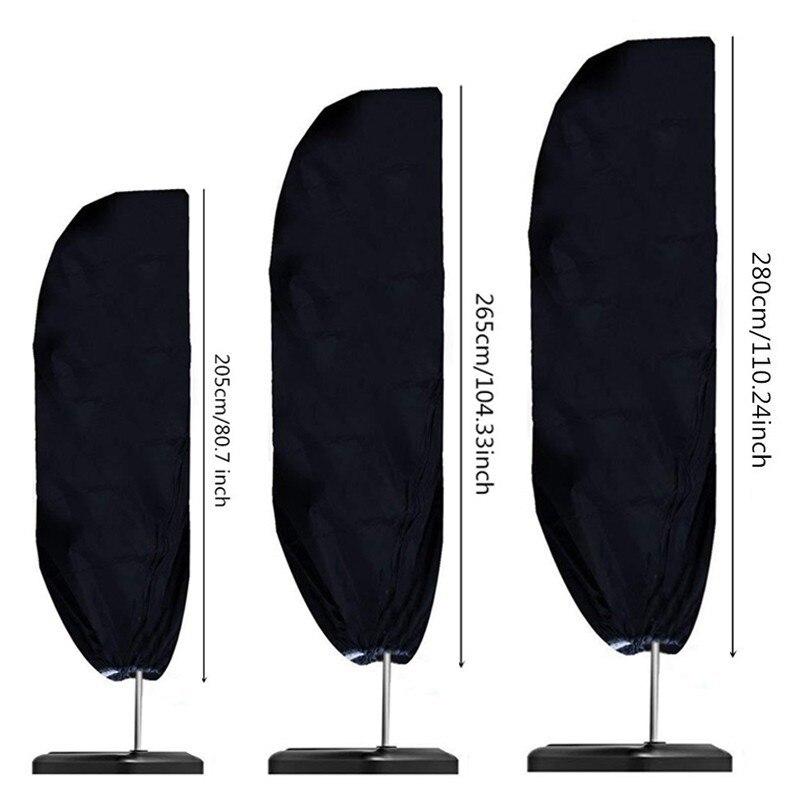 Housse parapluie imperméable en tissu Oxford, imperméable, dextérieur, pour le jardin, Patio, résistant aux intempéries, porte-à-faux, accessoires de pluie