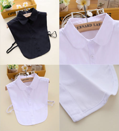 Candid 2019 New Women Choker Necklace Detachable Lapel Shirt Fake False Collar Blouse Bib Collar Black&white Fashion Hot Apparel Accessories