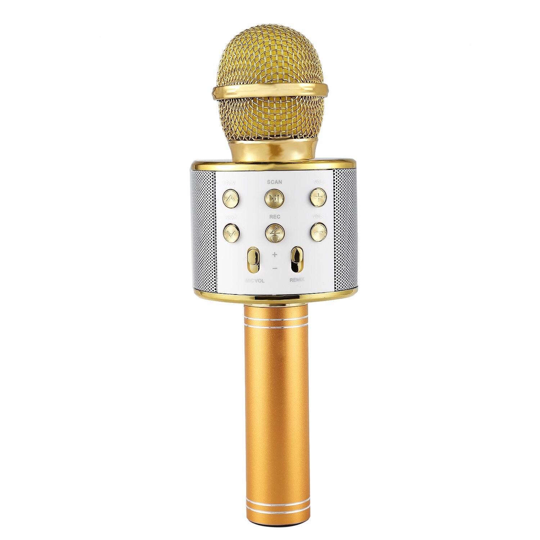 Profissional Microfone Microfone de Karaokê Sem Fio Bluetooth Speaker Portátil Music Player Gravador de MIC Cantar KTV Microfone