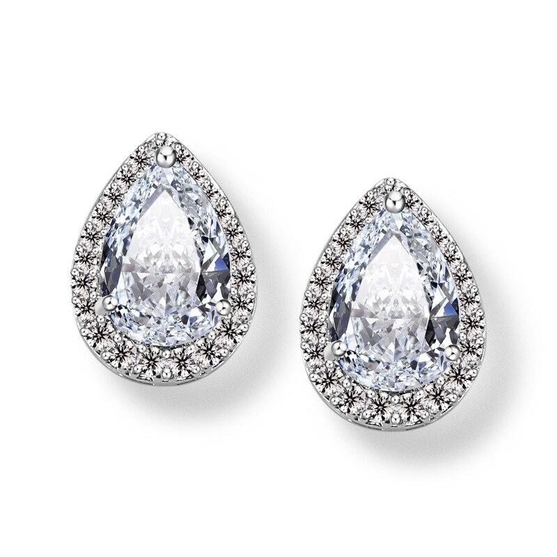 Wedding Jewelry Design Water Obsidian Rhinestone Earring Luxury Amethyst Crystal Stud Earrings Bizuteria for Women Orecchini