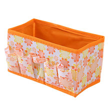 1pc Multifunctional Make Up Organizer Wearproof Non-woven Cosmetic Jewelry Container Case Holder Storage Box(China)