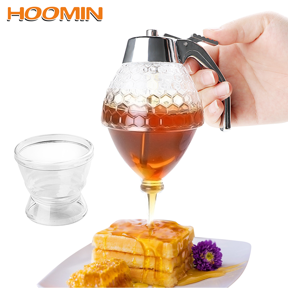 Honey Dispenser Kettle Honey Jar Container Maltose Syrup Squeeze Bottle Juice Jam Cup Pot with Stand Holder Kitchen AccessoriesHoney Dispenser Kettle Honey Jar Container Maltose Syrup Squeeze Bottle Juice Jam Cup Pot with Stand Holder Kitchen Accessories