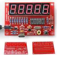 1Hz-50MHz Frequency Meter Crystal Measurement Frequency For Measure Oscillator Five Digital Tube Display DIY Kit Module Board