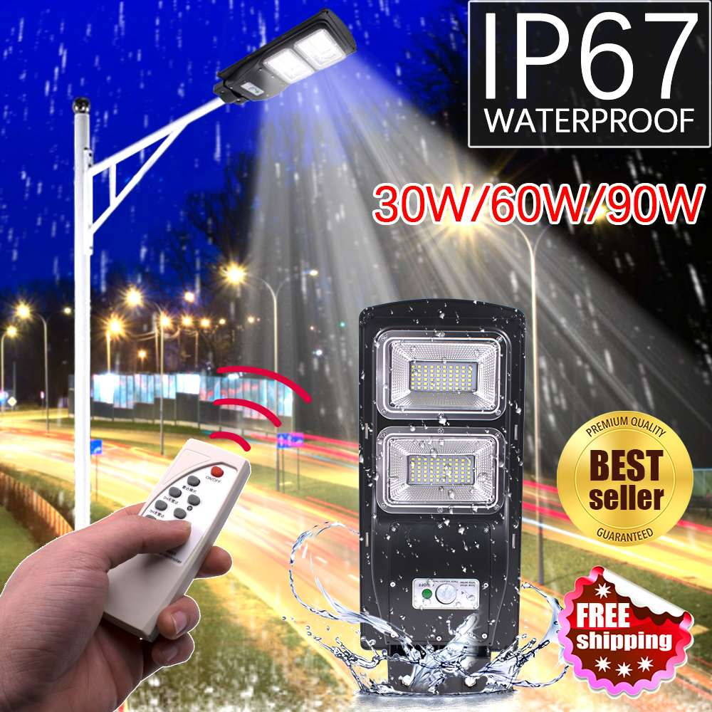 New 60W 120 LED Solar Lamp Wall Street Light Radar Induction Outdoor Timing Lamp+Remote Waterproof Security Lamp for Garden YardNew 60W 120 LED Solar Lamp Wall Street Light Radar Induction Outdoor Timing Lamp+Remote Waterproof Security Lamp for Garden Yard