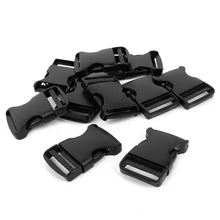 10x Hard Plastic Strap Band Belt Side Release Buckle 3cm Width Black