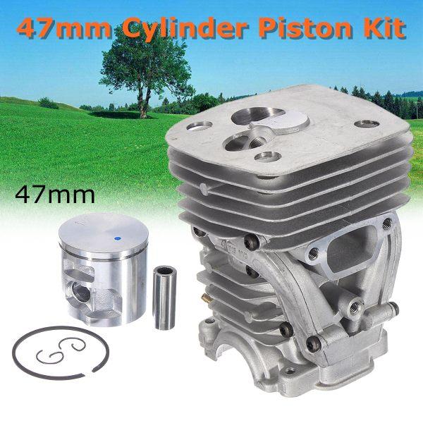 Kit Piston et anneau de cylindre de 47mm pour tronçonneuse Husqvarna 455 Rancher 455E 460