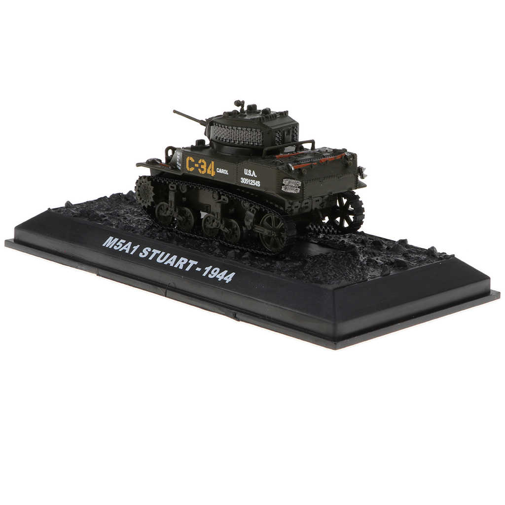 1:72 Scale WWII American M5A1 Stuart-1944 Tank   Deicast Army Model Collection Toy Showcase Display