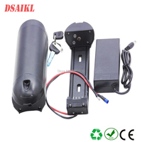 New arrival 500W ebike battery pack bottle 36V 10Ah use Sanyo GA cells battery pack with 42V 2A charger
