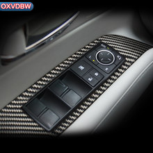 Carbon Fiber Car Window Control Switch panel Decor for Lexus RX270 450H350F sport Interior trim Accessories Car Stickers2009-14(China)