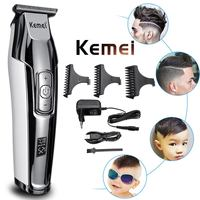 Kemei 4 Speed Professional Hair Clipper LCD Display Fast Charger 0mm Baldheaded Cordless Electric Hair Cutting Machine Razors
