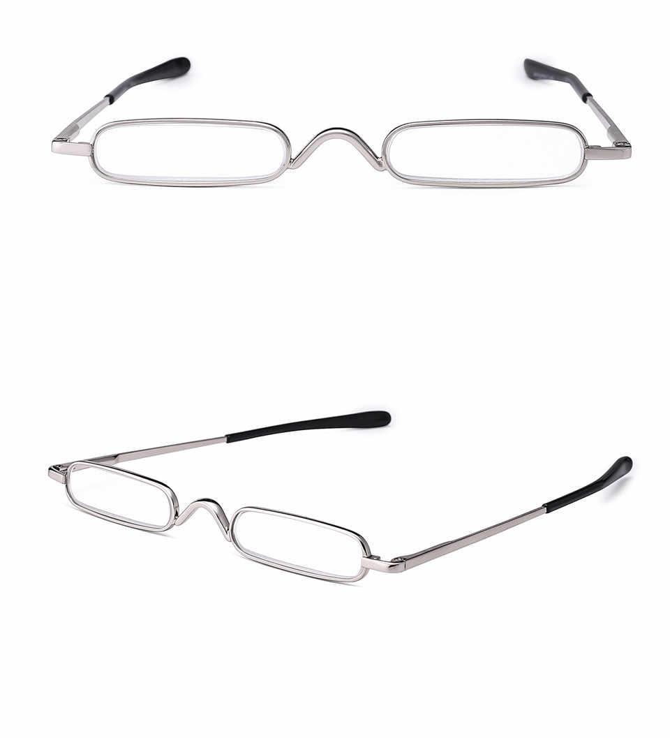 Iboode, elegantes gafas de lectura de Metal para mujeres, con estuche, gafas de presbicia de lectura pequeñas portátiles, 1,25 1,5 1,75 2,5 2,75 3,5