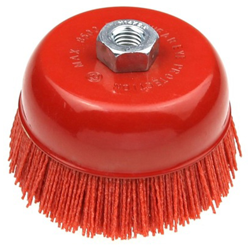 1 Piece 115 X M14 Cup Abrasive Brush Wheel P80 Pile Polymer-Abrasive 4.5 Inch Angle Grinder Tool