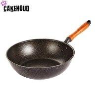 CAKEHOUD 20cm24cm26cm28cm Induction Cooker Universal Frying Pan Non stick Aluminum Pan Frying Pan Household Cooking Pot Cookware