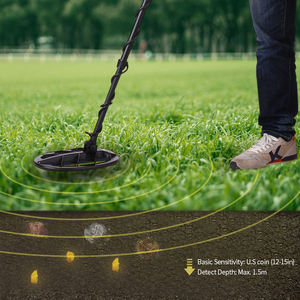 Image 5 - KKmoon Professional Underground Handheld Gold Metal Wire Detector Pinpointing Finder Digger Treasure Hunter with LCD Display