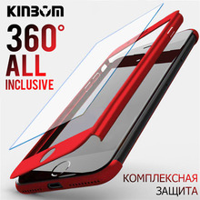 KINBOM 360 Full Protection Cover Case For IPhone 6 8 7 Plus Phone X XR XSMAX Protective With Tempered Glass
