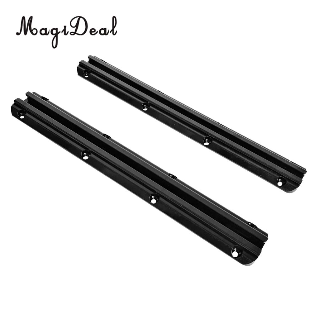 Durable Pair 300mm Marine Kayak Aluminum Slide Track Rails DIY Accessories For Kayak Canoes Fishing Boat Dinghy Accesories