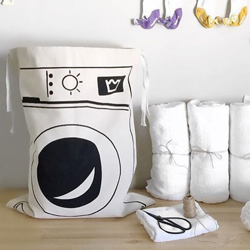 Blanket Pouch Laundry-Bag Bags Storage Baby Batman Cute Toys Letters-Pattern Flax Smile-Face