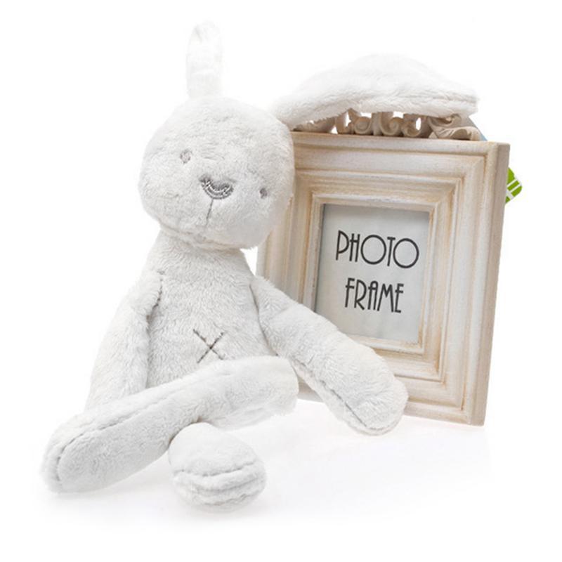53cm Rabbit Sleeping Comfort Doll Plush Toys Baby Plush Toys Bunny Smooth Obedient Rabbit Sleep Calm Stuffed Doll Mate For Girls
