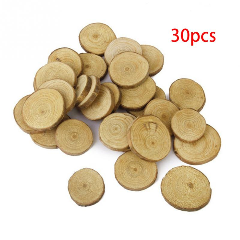 Image 5 - 30pcs Plain Wood Wooden Hearts Embellishment Blank Heart Wood Slices Discs Natural Wood Color Birch Tree DIY Crafts #125-in Party DIY Decorations from Home & Garden