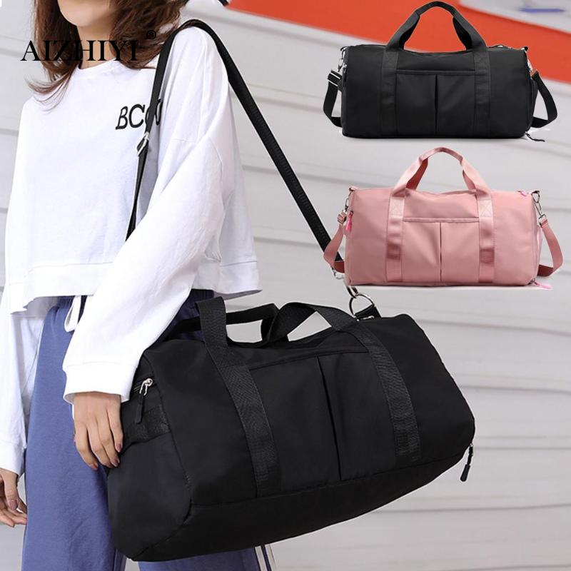 Female Black Travel Bag Pink Color Sequins Shoulder Bag For Women Waterproof Handbag Weekend Portable Nylon Tote Bolsas Feminina