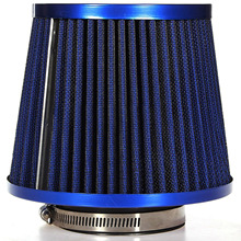 JX-LCLYL Universal Car Air Intake Filter Induction Kit High Power Sports Mesh Cone Blue