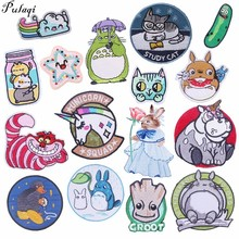 Pulaqi 2019 New Cat Sticker Embroidery Patches Sew On Iron-on Heat Transfers Badge For T - Shirt Jeans Hat Cartoon Animals Diy H