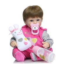 40cm Lifelike silicone reborn baby doll Soft Silicone Baby Reborn Toddler Bonecas Dolls Toy for baby accompany toys gifts(China)