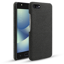 For Asus ZenFone 4 Max ZC520KL ZC554KL Case Fabric Woven Cloth Anti-slip Slim Hard Case For Asus ZenFone 4 Selfie ZD553KL Cover смартфон asus zenfone 4 selfie zd553kl black 90ax00l1 m01490