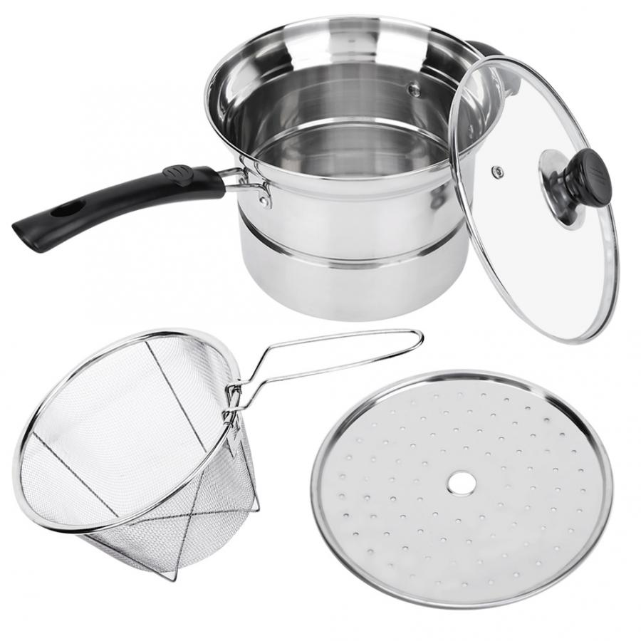 Household Cleaning Tools Ingenious Stainless Steel Scrubbers 201 Stainless Steel Nonmagnetic Non-stick Stockpot Cookware With Glass Lid Scrubbers Cleaning The Oral Cavity. Home & Garden