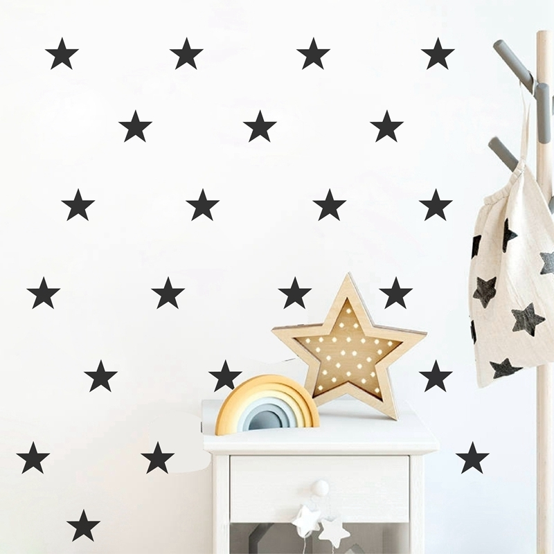 US $3.3 38% OFF|Star Wall Sticker Vinyl Kids Room Children\'s Bedroom Wall  Decal Removable Decoration Nursery Wallpaper Mural Home Decor-in Wallpapers  ...
