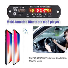 USB AUX manos libres Bluetooth kit de coche inalámbrico de radio FM RECEPTOR de Audio USB 3,5mm TF aux jugador universal 5 v-12 V DC(China)