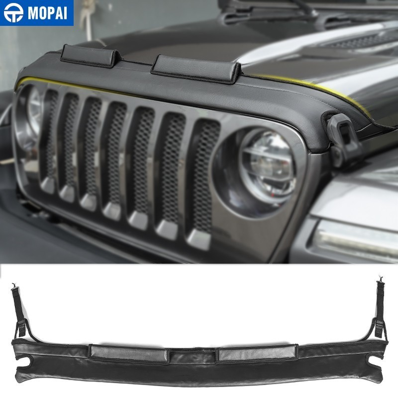 MOPAI Engine Bonnets for Jeep Wrangler JL 2018 Car Engine Cover Front Hood Cover Protector for