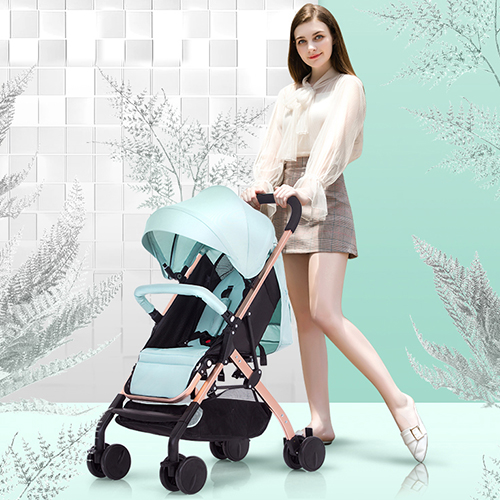 Baby Cart Adjustable Pedal And Backrest One-Hand Folding Baby Stroller Support Sit Lie Upgrade Sunshade With Visible Rear WindowBaby Cart Adjustable Pedal And Backrest One-Hand Folding Baby Stroller Support Sit Lie Upgrade Sunshade With Visible Rear Window